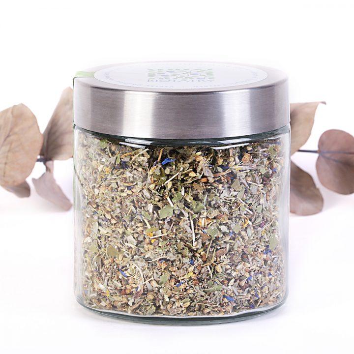 bylinkový sypaný čaj na boľavé hrdlo