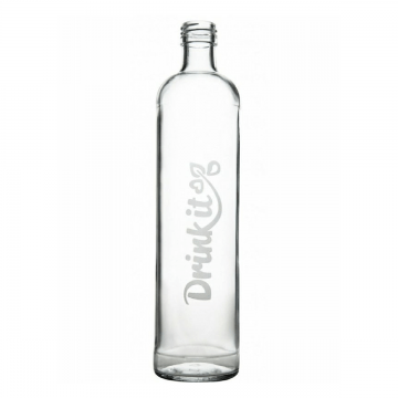 sklenená fľaša na pitie