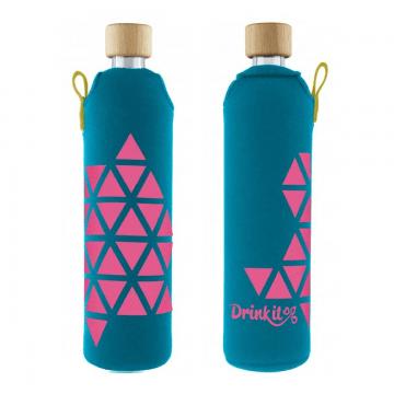 Sklenená fľaša Polygonka
