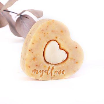 Prírodné mydlo srdce na suchú pokožku z kozieho mlieka