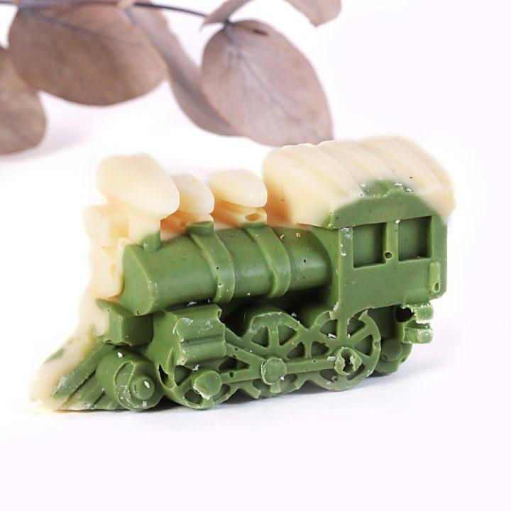 Mydlo pre deti vláčik olivové jemná mäta