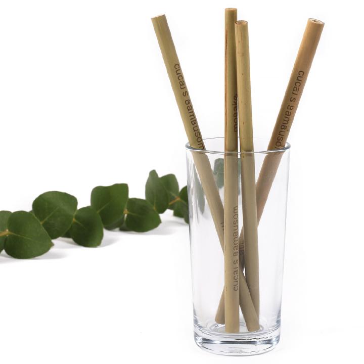 prírodná bambusová slamka