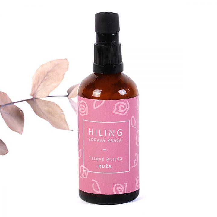 prírodné telové mlieko ružové