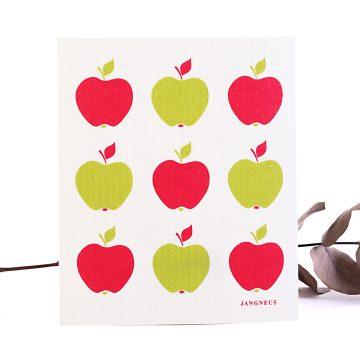 vechtik prírodná hubka na utieranie vzor jabĺčka