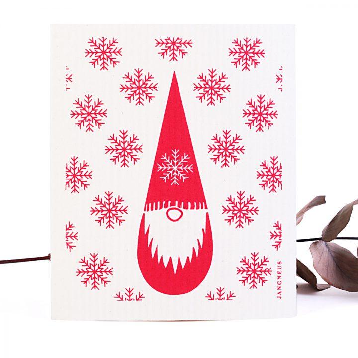 prírodná hubka na utieranie vechtík vianočný vzor