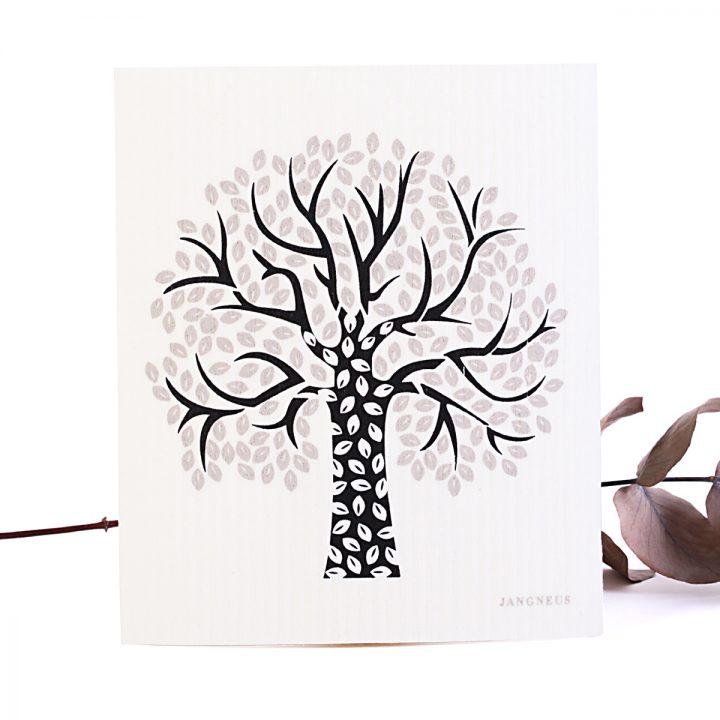 kopostovateľný vechtík prírodná hubka na utieranie strom