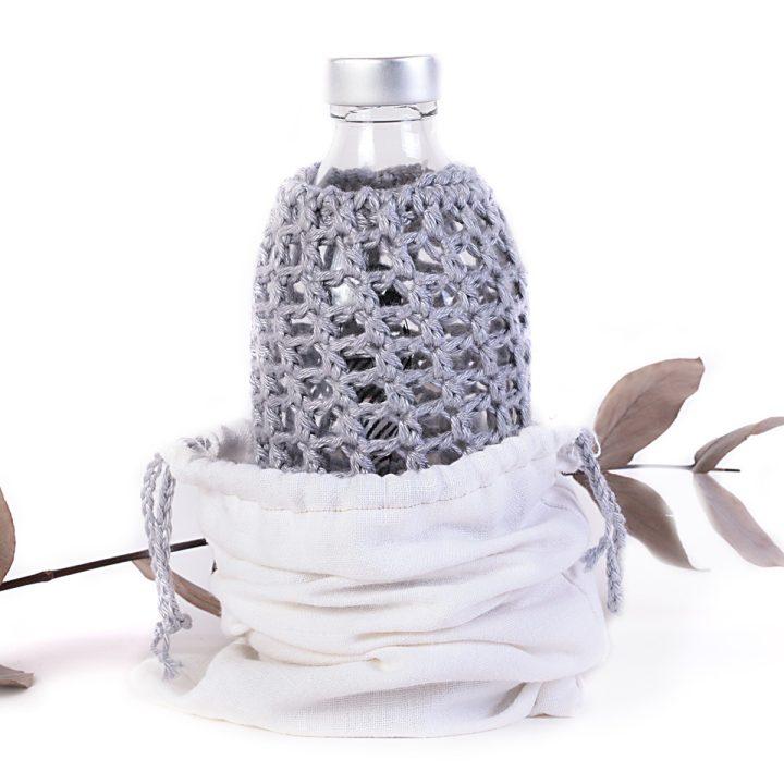 detská fľaška sivá