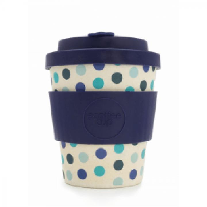 Bambusový pohár 240ml - Blue Polka