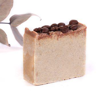 prírodné kávové jemné mydlo soľné Mydlove Teplice