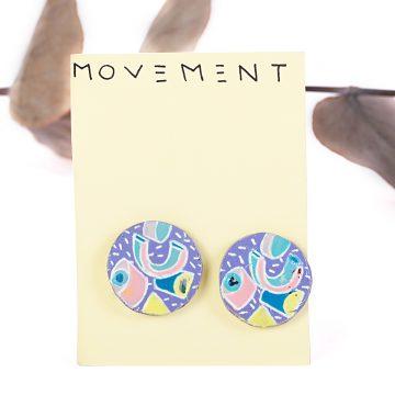 upcyklované náušnice Movement