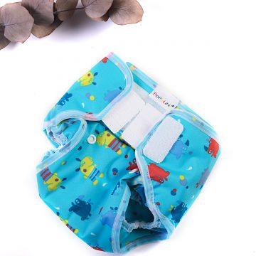 látkové vrchné nohavičky modré