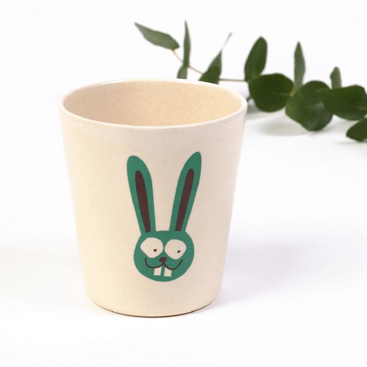Detský bambusový pohárik Zajac