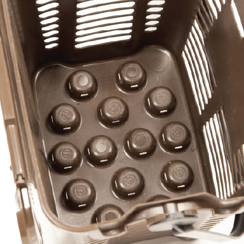 košík na bio-odpad dno
