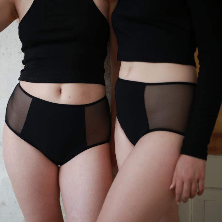 menštruačné nohavičky transparentné