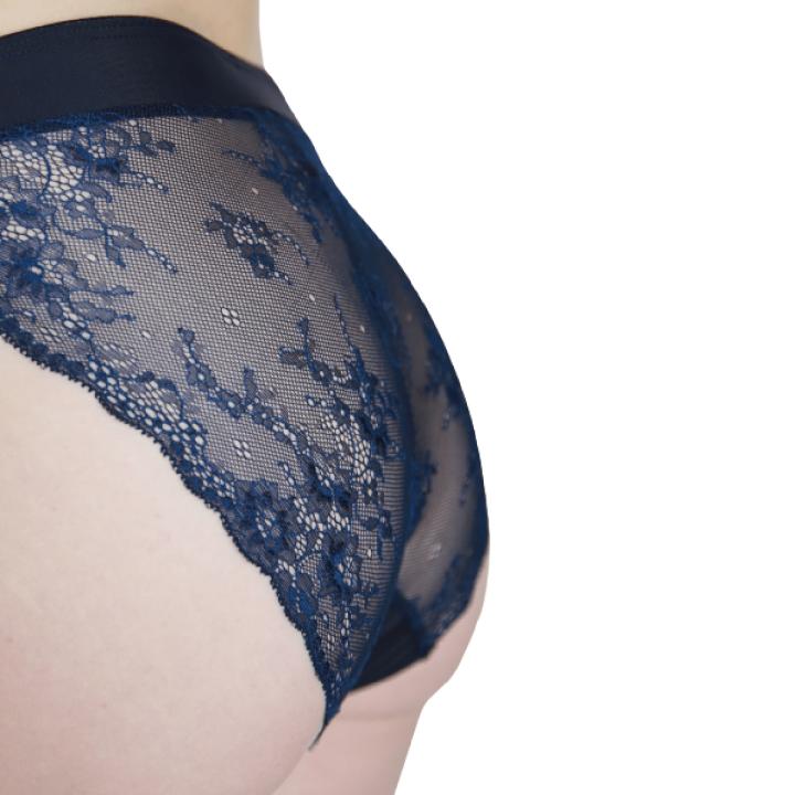 menštruačné nohavičky modré brazilky