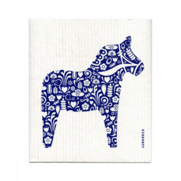 kompostovareľná hubka na riad modrý koník